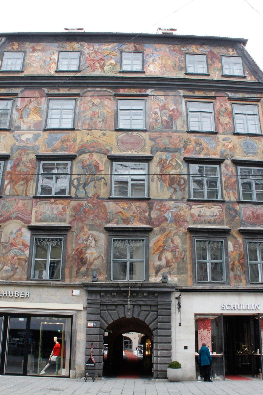 Gemaltes Haus Graz