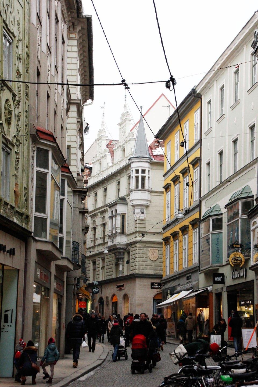 Schmale Gasse in Grazer Altstadt