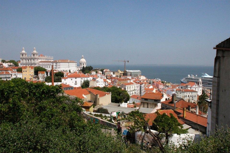 Miradouro in Lissabon, Alfama