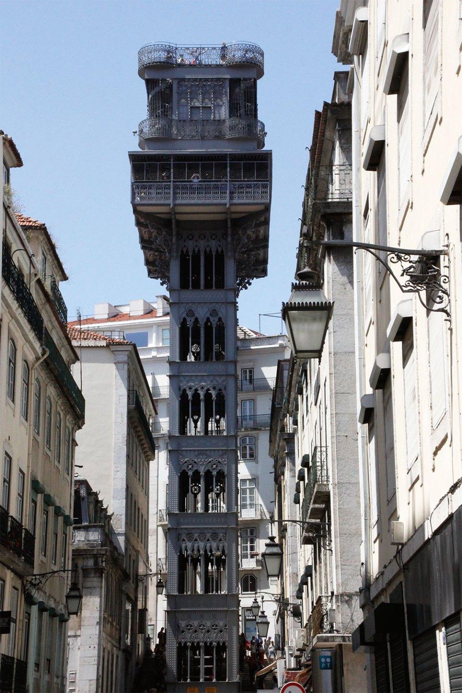 Aufzug Elevador Santa Justa in Lissabon