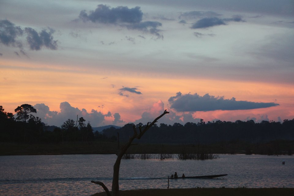 Sunset in Lao