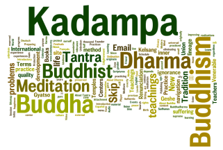 "Result of NKT's ""Buddhism"" page. Counting displayed words."