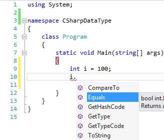 Data Type int default method