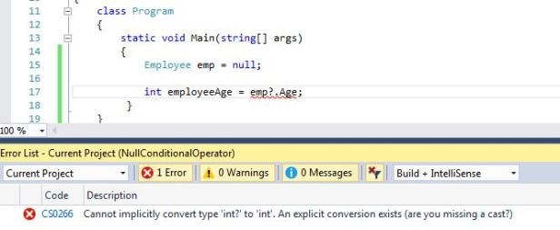 Null-conditional operator
