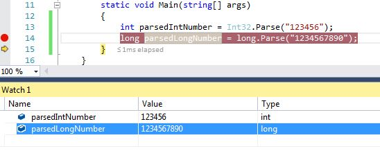 TryParse() vs Parse() in C# - The DotNet Guide