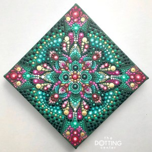 Radiant Mandala Dotting Pattern – PDF Digital Download with YouTube tutorial