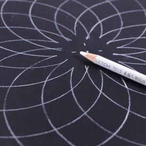 White Charcoal Pencil for dot mandala artists