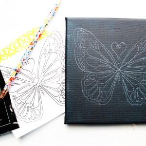 PDF Digital Download – Butterfly Dotting Transfer Pattern