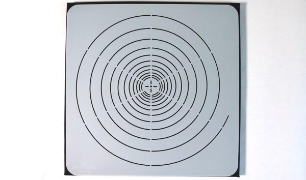 Spiral mandala stencil