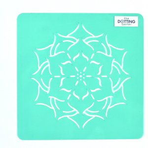 Flower Dot Mandala Stencil