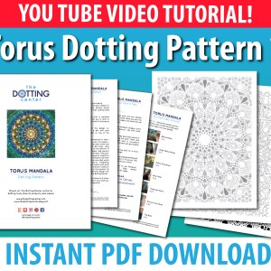 Torus Dot Mandala Dotting Pattern – PDF Digital Download