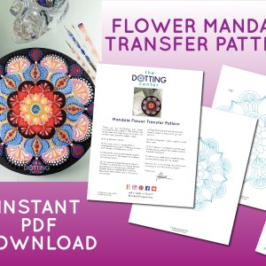 Flower Mandala Transfer Pattern – PDF Digital Download