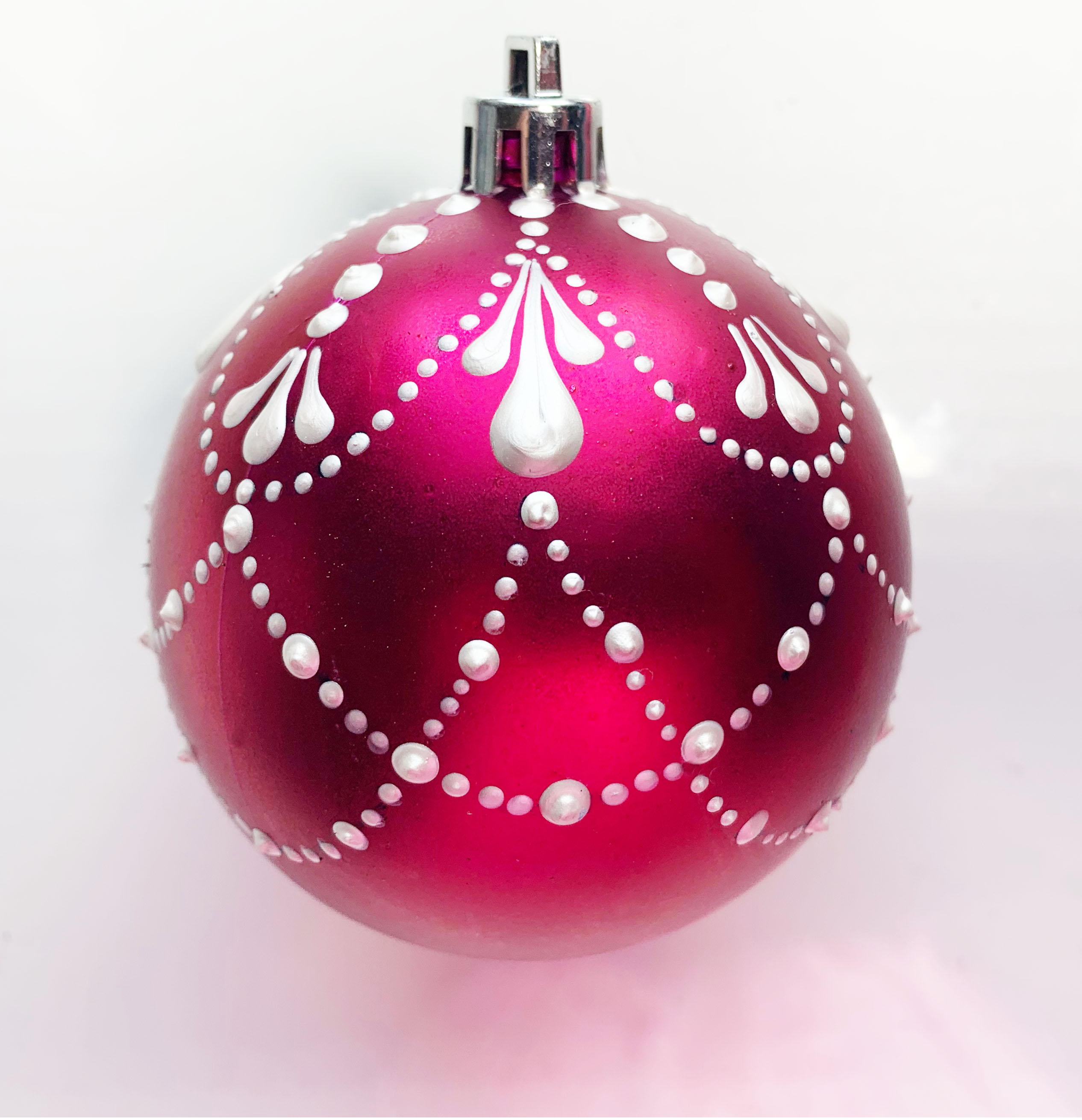 Strung Pearls DIY Dotted Christmas Ball