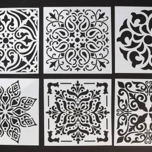 6″ Mandala Stencils for Canvas – Various Designs