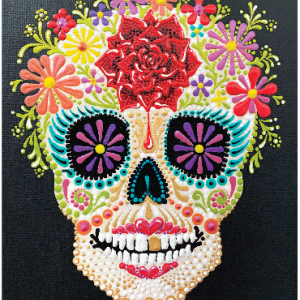 Rose Sugar Skull Pattern #4 – PDF Digital Download with YouTube Video Tutorial