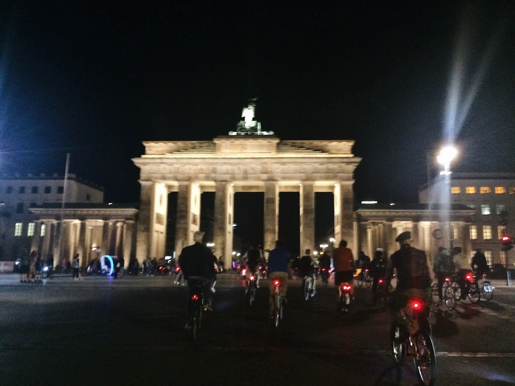 Critical Mass Brandenburg gate