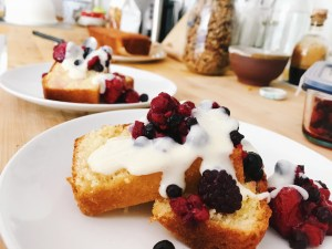slice of yogurt cake