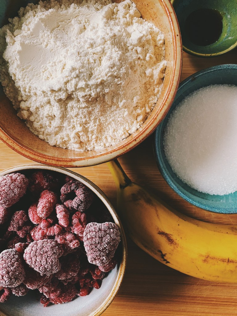 Banana Berry Muffins ingredients
