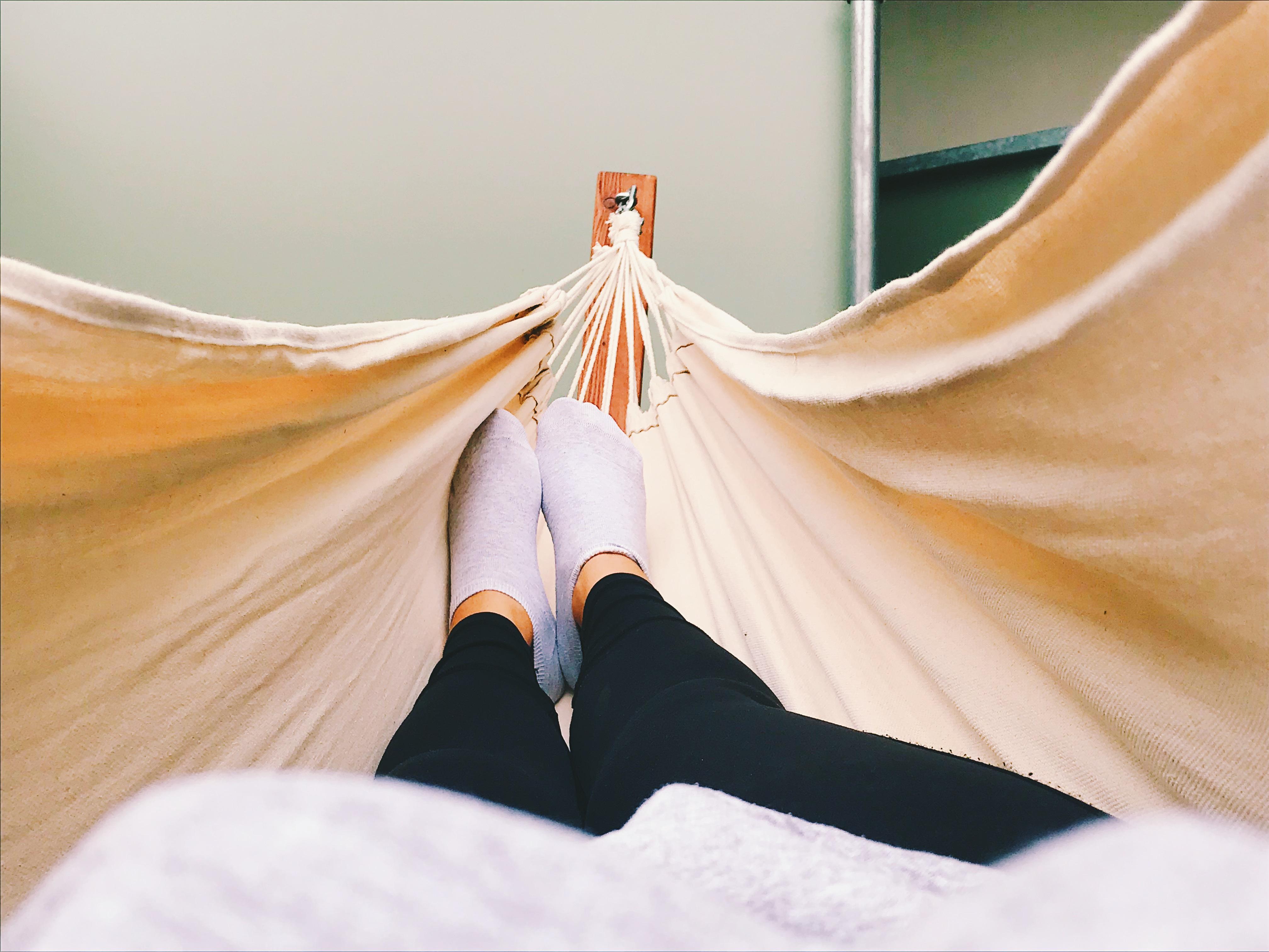 Feet hammock meditation