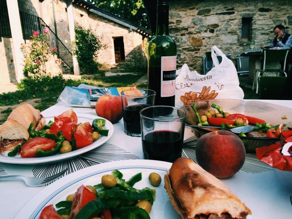 Camino pilgrim meal