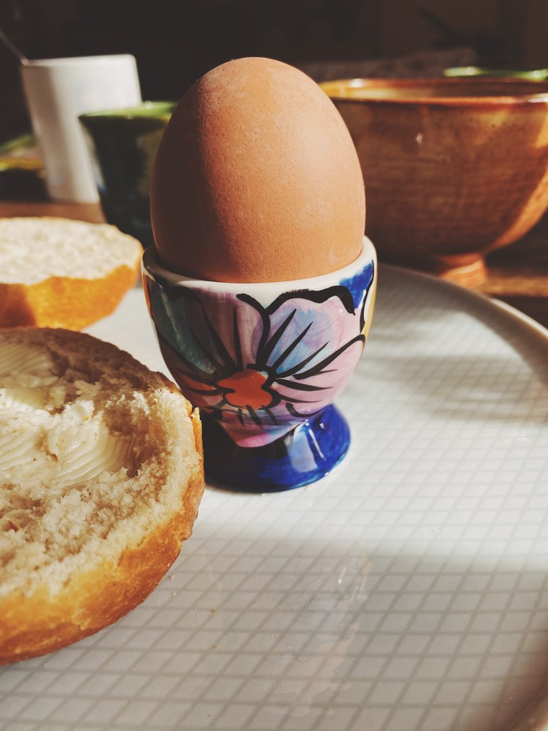hard boiled egg cup