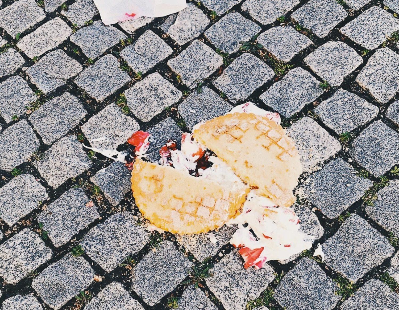 Fallen cake on Berlin street