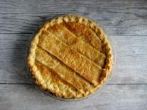 Double-Crust Rhubarb Custard Pie