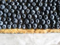 Pecan Shortbread Tart with Custard and Berries