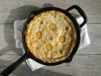 Peaches n' Cream Skillet Pie