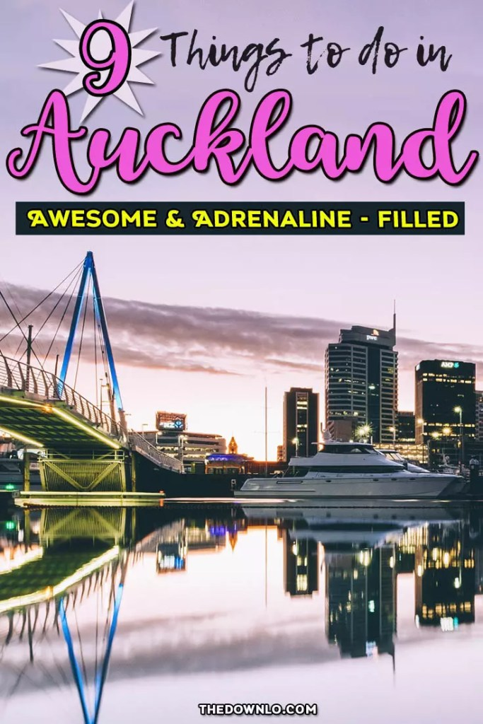Looking for things to do in Auckland, New Zealand? Explore the North Island  downtown skyline with beaches, food, city adventures, waterfront, and Instagram spots like the Sky tower, bridge walk, plus bucket list day trips to the glow worm caves, hobbiton, and Maori culture. #travel #vacation #nz #inspiration #bucketlists