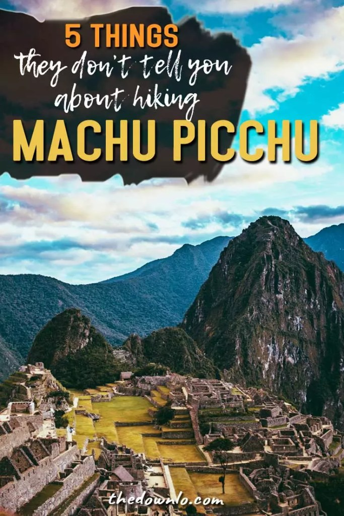Hiking Machu Picchu: everything they don't tell you. Training and travel tips for the epic bucket list hike, Instagram mountain photography for the Inca Trail ruins, and pictures and photos to inspire your South America adventure. Don't take the train -- do the history justice and explore Peru right. #machupicchu #hikes #hiking #adventures