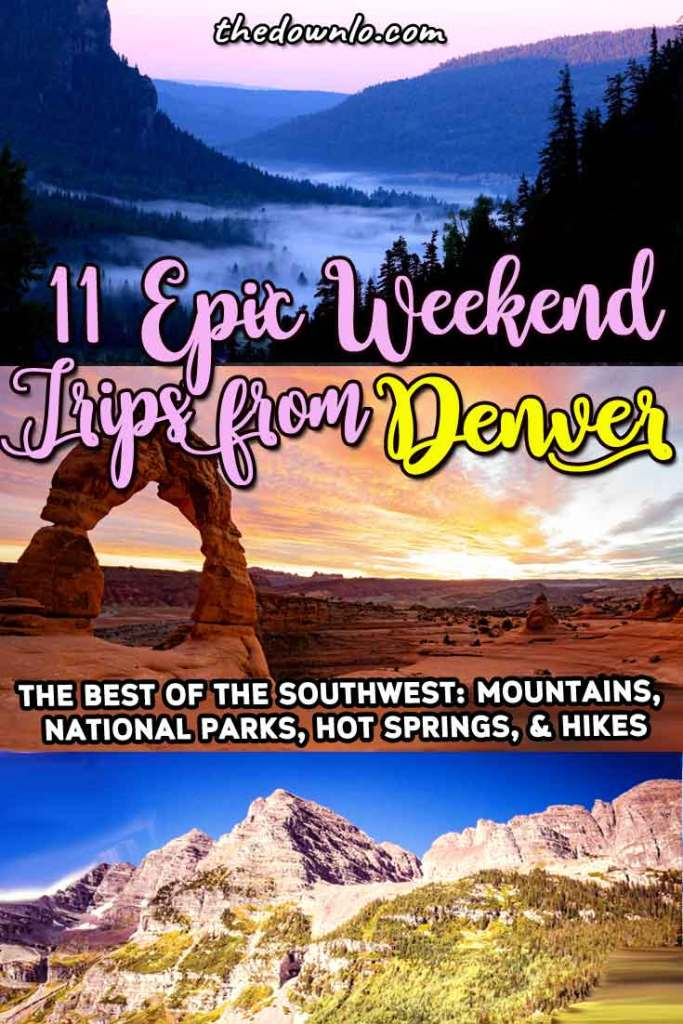 The best Denver road trips and weekend getaways from Denver, Colorado. Looking to escape the Mile High? Here are the best trips in and around Colorado, the Rocky Mountain towns like Aspen, natural beauties like the Maroon Bells, national parks like the Badlands, and neighboring states like Wyoming. All are easy roadtrips and great drives across america. #usa #co #denver #roadtrip
