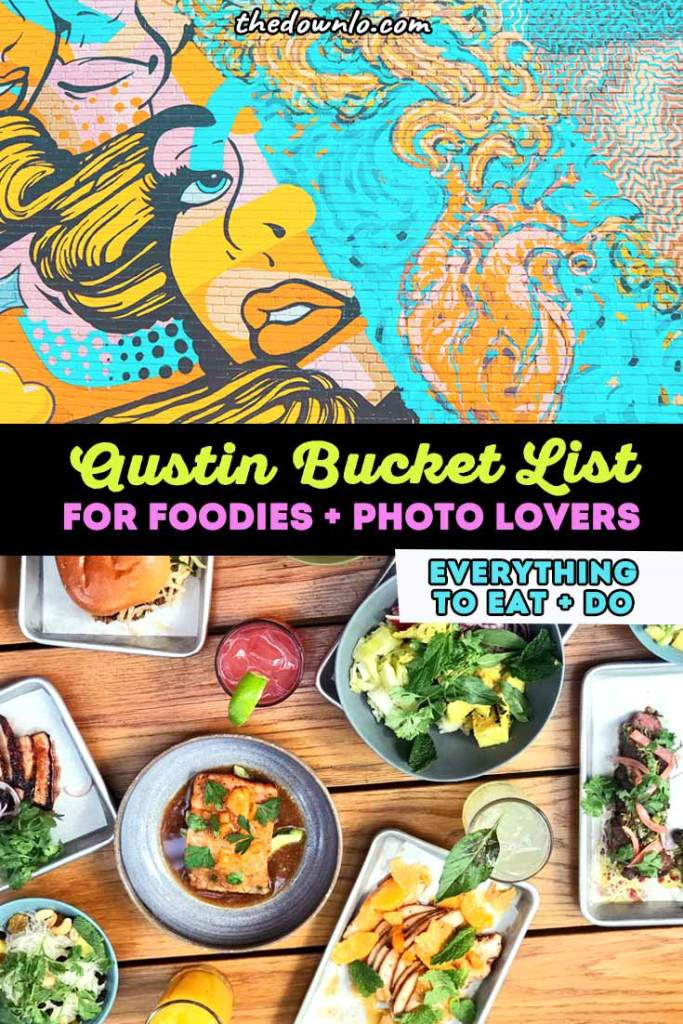 Austin weekend itinerary: a bucket list guide for a Texas Getaway. The best free kid friendly attractions and girls trip ideas for where to eat downtown, the best restaurants and food trucks, weird things to do, pictures and street art spots, food trucks and foodie fun, outdoors and nature, and murals for Instagram photography. Bucket lists and photo inspo for TX with kids, couples, and girlfriends in winter, summer, spring or fall. #austin #tx #texas