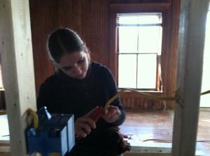 Rachel learning a trade