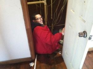 Look! Indoor plumbing.