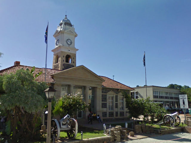 "Ladysmith - Town Hall and ""Castor"" and ""Pollux"""