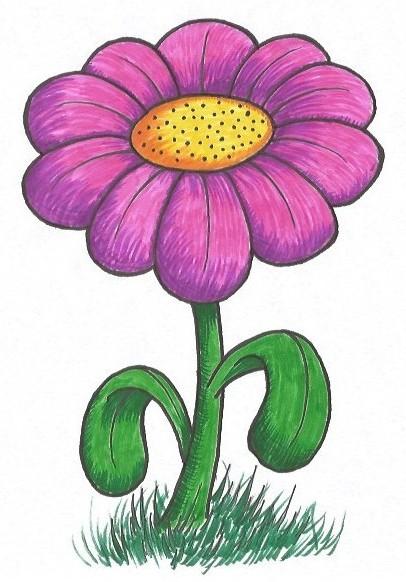 simple flower drawing tutorial