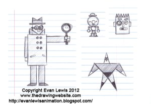 shapes cartoon characters simple drawing flat draw putting website thedrawingwebsite
