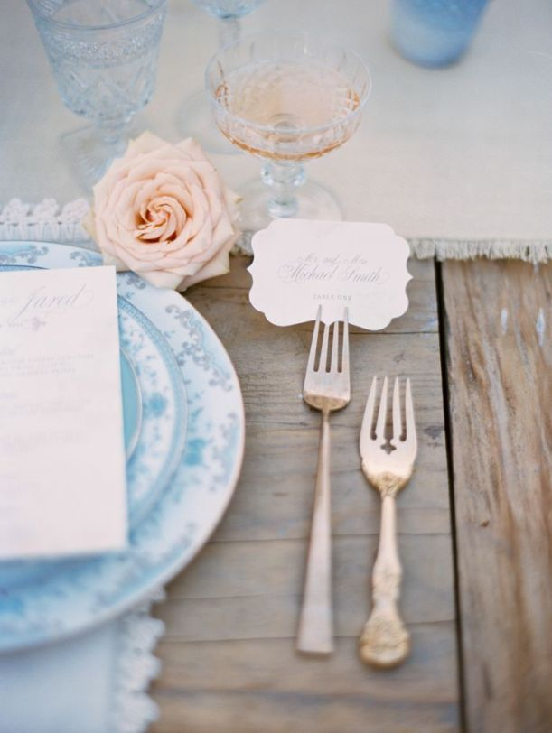 Fresh Wedding Details...Personal table settings