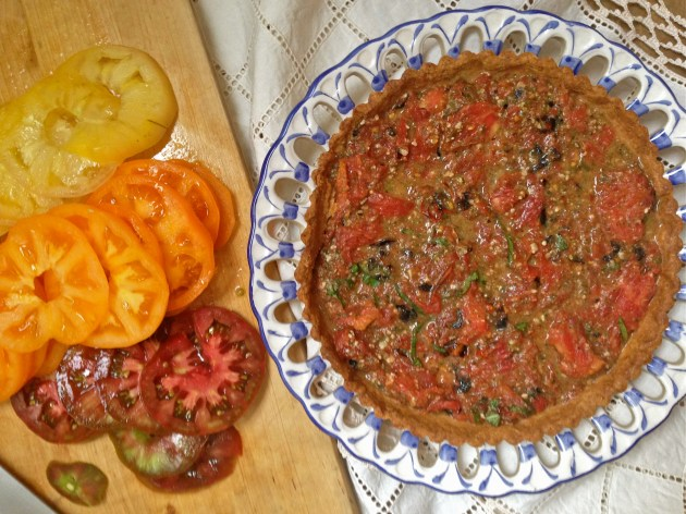 Heirloom Tomato Tart with Roasted Tomato Pesto