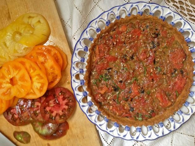 Heirloom Tomato Tart with Roasted Tomato Pesto