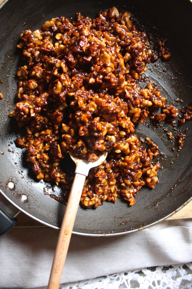 Pecan Pie Style Candied Walnuts