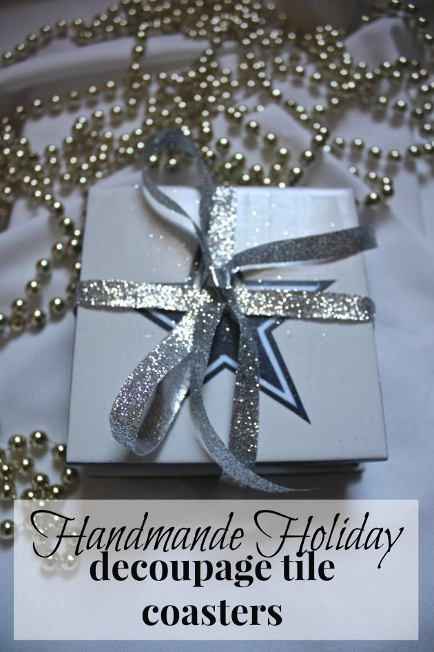 Handmade Holiday: Decoupage Tile Coasters