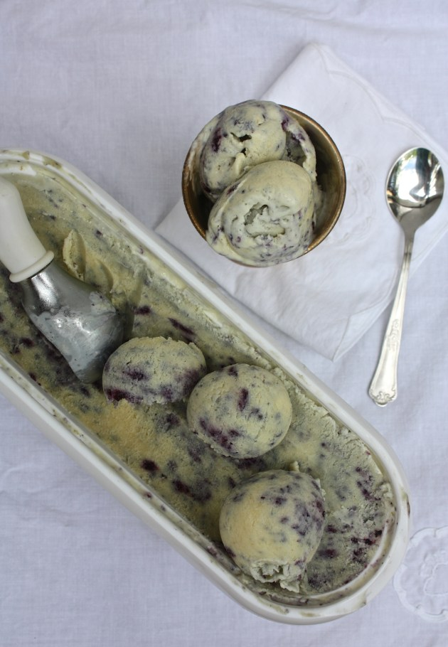 Chamomile Tea Berry Swirl Ice Cream