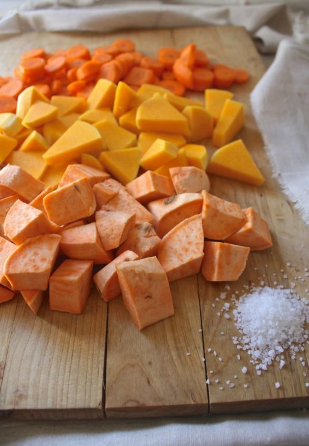 Butternut Squash, Sweet Potato + Carrot Fall Soup {Sopa da Avo}