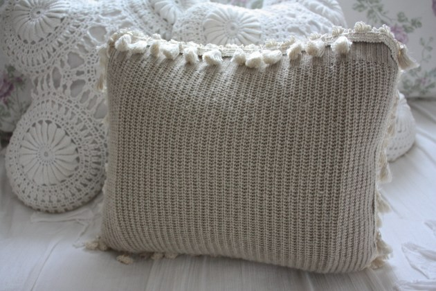 How To: Cable Knit Sweater + Tassel Pillow