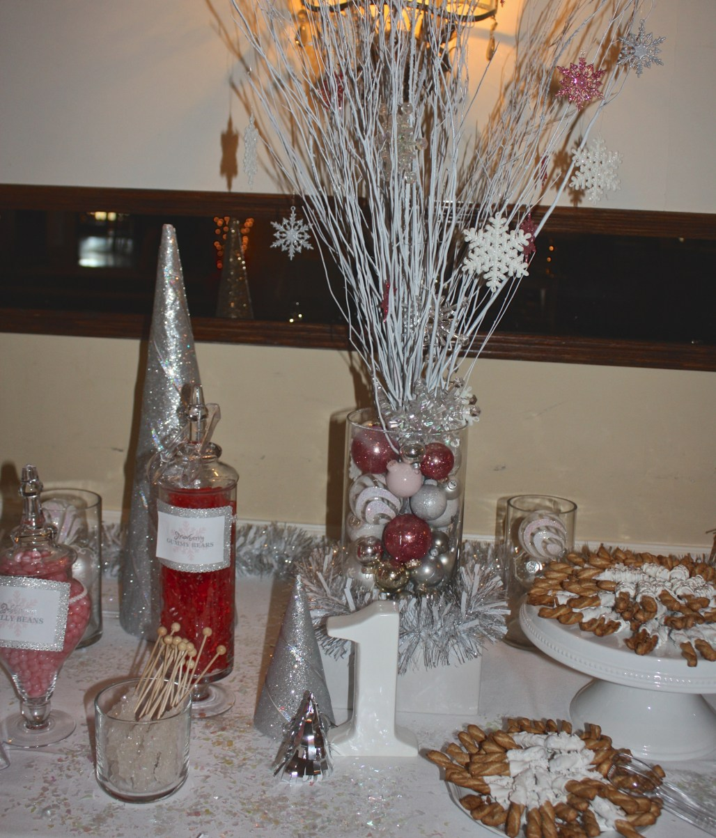 Pink Winter Wonderland Candy Buffet