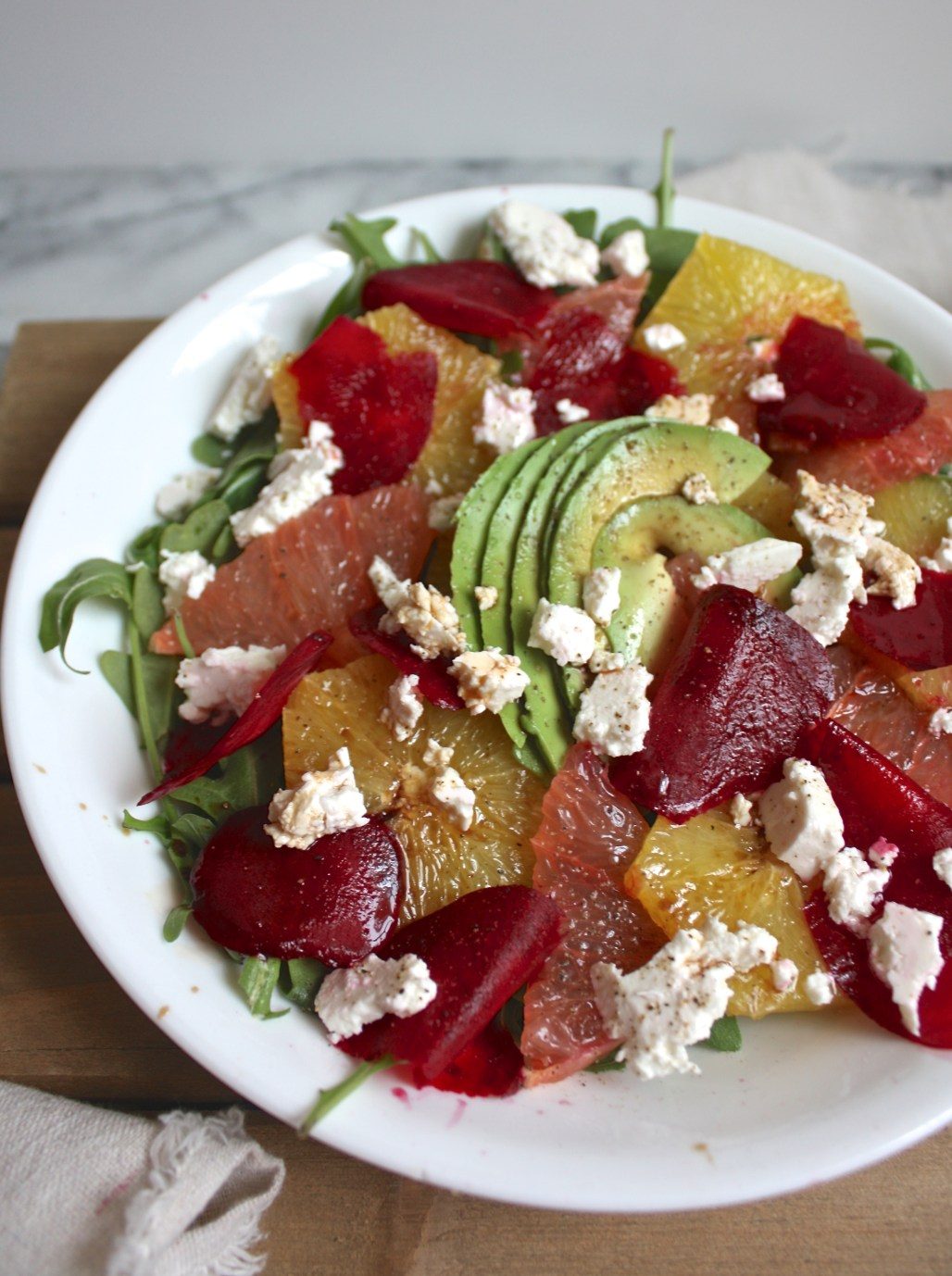 Citrus Arugula Salad with Shaved Beets & Fresh Cheese | Dreamery Events