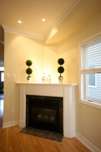 Photo: Gas fireplace