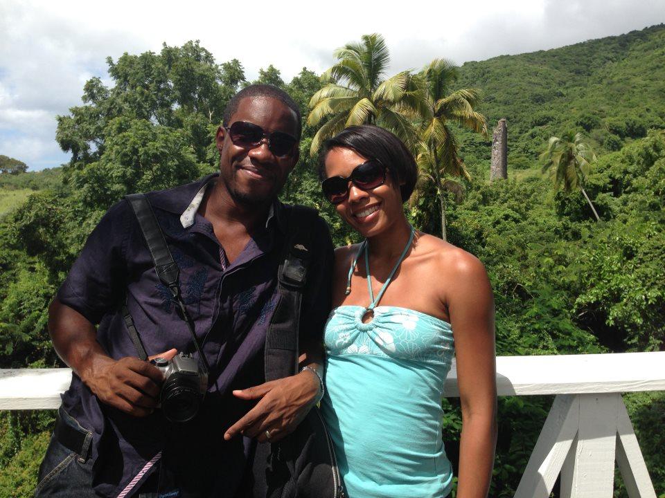 Enjoying the gardens at Romney Manor, St. Kitts